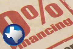 tx a promotional financing rate